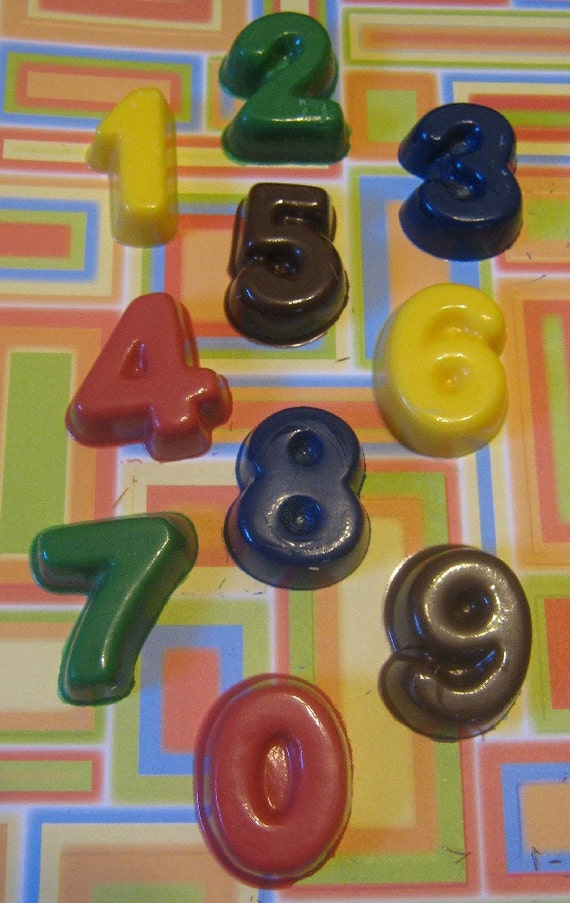 Larger numbers candies or cupcake toppers