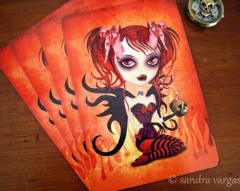 Fallen Angel Gothic Postcard Postcrossing