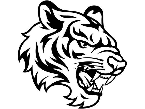 Tiger 15 White Wild Cat School Mascot Tattoo Logo Svg Eps