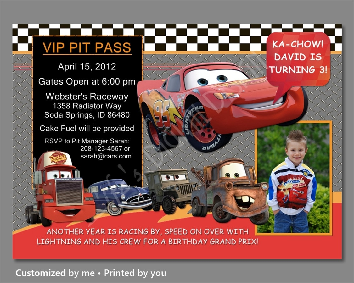 Lightning Mcqueen Invitations Awesome Free Printable Cars 3 Invitation Birthday McQueen