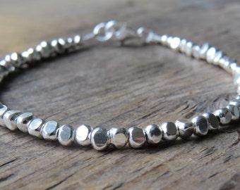 Karen Hill Tribe Faceted Bead Bracelet
