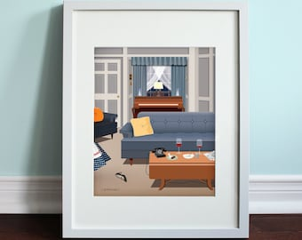 Lucy and Ricky's Apartment Living Room - I Love Lucy, I Love Lucy TV Show Art Print, TV sitcom