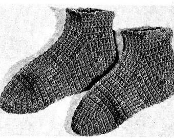 Slipper Socks Crochet Pattern 723174