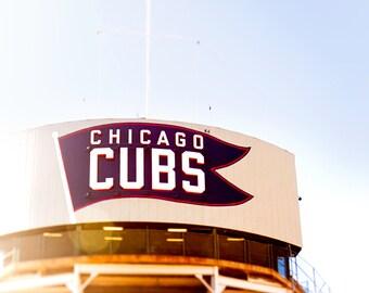 Chicago Cubs Wall Art, Baseball Decor, Wrigley Field Photography, Cubbies, Go Cubs Go, Fly the W, Playroom Decor, Boys Room Art, Sports Art