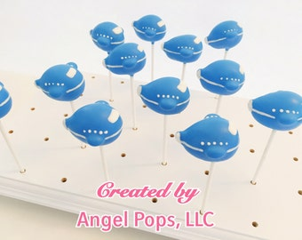 Airplane cake pops