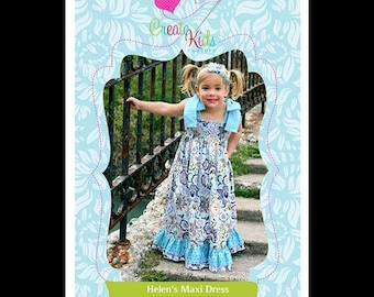 Summer Clearance Helen's Maxi Dress Pattern by Create Kids Couture