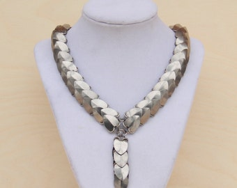 Steel Scale Maille Necklace with Pendant