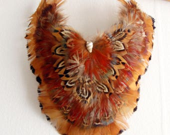 1970s Feather Bibb Necklace