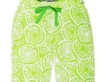 Green Lemons Chino Shorts