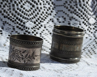 Silver Napkin Rings Set of 2