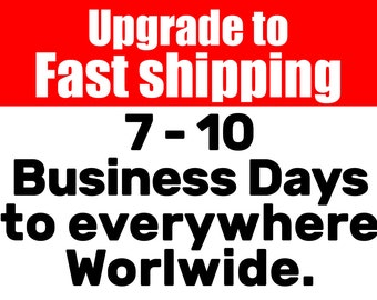 FAST SHIPPING ,delivery in 7-10 business days with a tracking number, shipping worldwide