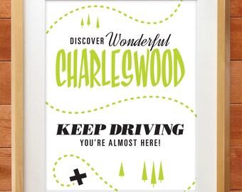 Winnipeg Neighbourhood Prints: Charleswood, You're Almost Here