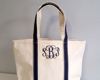 Monogrammed Canvas Tote Bag,monogram tote bag, large beach bag, womens gift, Bridesmaids gift, gift for her