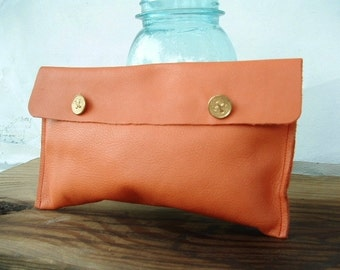 little leather clutch
