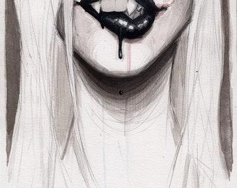 vampire bites - fine art print - 5x7
