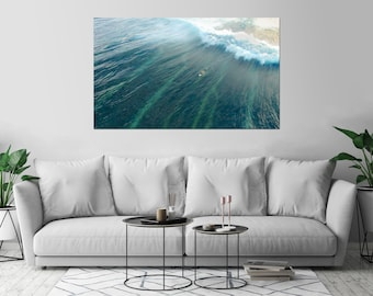 Surfer Ocean Waives Sport Surf Art Print Wall Decor Poster Size: 36 x 54 - XL