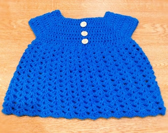 Beautiful, vintage-style croched dress. (9-12 mo)