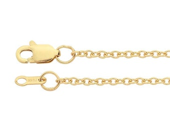 14K Yellow Gold 1.5mm Cable Chain, select your length.
