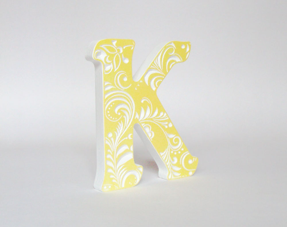 Wooden letters for nursery Letter K covering letters wooden