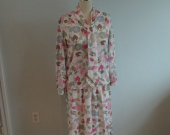 1970's Floral Koret Outfit