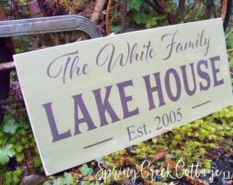 Rustic Wood Signs, Personalized, Established Signs,Handpainted Wood Signs, Lake House, Housewarming Gifts, Modern Rustic, Gifts, Home Decor