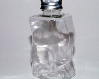 12 x  High Quality Plastic Miniature  Wavy Bottles favours 100ml