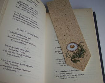 Illuminated flower bookmark