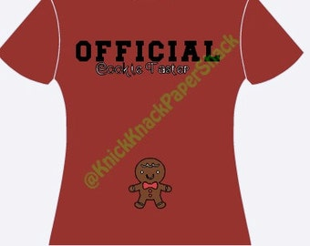Official Cookie Taster Maternity Shirt