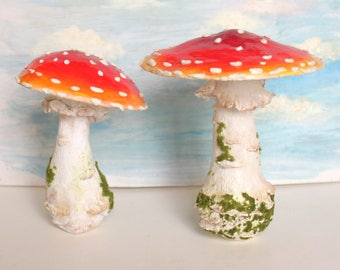 Made to order Fly agaric red and white dotted mushrooms in various sizes