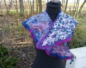 felted neckcollar from wool felted merino wool collar fancy fancy