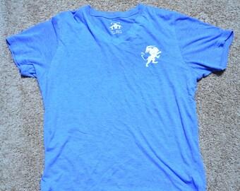 The Chimera Triblend Blue V Neck Tshirt
