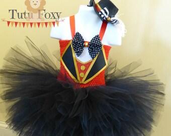 Ringmaster Tutu Dress, Ringmaster Costume, Circus Birthday Outfit, Circus Costume, Circus tutu dress, Carnival Outfit