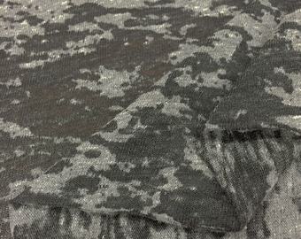 Cotton Blend Burnout Jersey Knit Fabric By the Yard (Wholesale Price Available By the Bolt) USA Made Premium Quality - 2422PCRH - 1 Yard