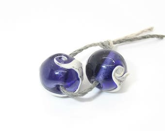 Handmade Purple Glass Bead pr - Prima Donna Beads
