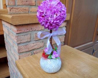 Artificial purple flowers - floral of indoor tree