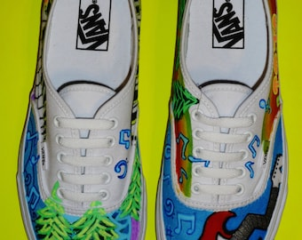 Hand Painted Guitar Shoes