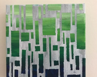 Green Glass - 6x6 Canvas Painting
