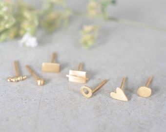 Single 14k gold stud earrings, 14k tiny gold stud earrings, solid gold stud earrings, 1 unit , dainty studs, stud earrings, Single stud gold