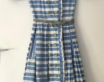 Rare 1950s cotton sailor dress XXS