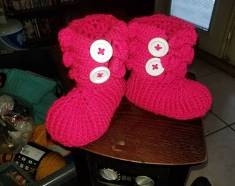 Crocodile stitch adult sized booties