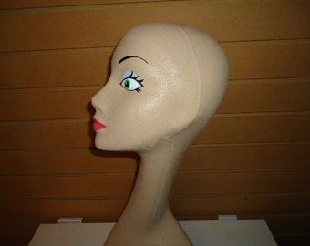 """One 20""""H Swan Neck #630CCCSCMDC MANNEQUIN HEAD Form-Light-Skin Tone-COSMETIQUE, 6 15"""", & 10 Pair of #595 Boot Forms Polly Products Company"""