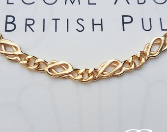 """Solid Fine 9ct Yellow Gold Celtic Links Necklace 16'' 18"""" & 20"""""""