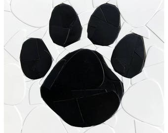 Paw Print Guitar Picks on Canvas