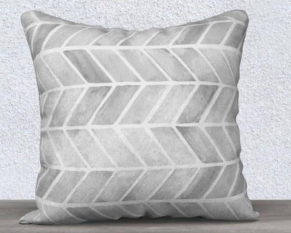 Gray Tribal Pillow Cover in Velveteen