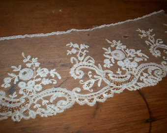 Antique finely done 1800s heirloom  hand done
