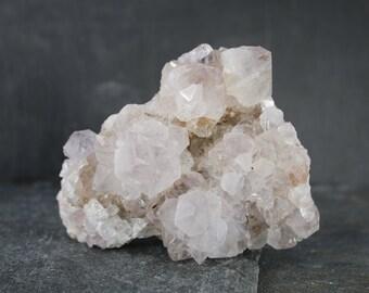 Cactus Quartz, Spirit Quartz, Fairy Quartz, Very Light Amethyst Cactus Quartz Crystal Cluster, Natural Rough Crystal Specimen, Chakra Stone