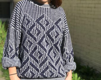 Oversized Vintage Inspired Sweater