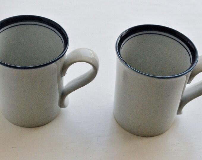 Dansk Blue Mist Pair of Coffee Mugs Niels Refsgaard