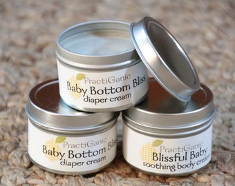 Baby Shower Bundle: Natural Diaper Cream and Lotion. Essential and Fragrance Oil FREE