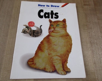 How to Draw Cats Book  by Janet Rancan shows Materials Needed and Several different types of Cats